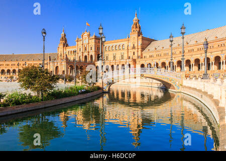 Seville, Spain. Spanish Square (Plaza de Espana) - Stock Photo