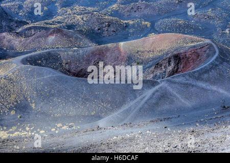 Mount Etna; Catania; Sicily; Italy - Stock Photo