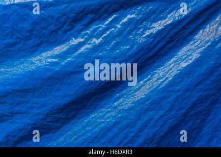 Blue pattern plastic cloth texture background - Stock Photo