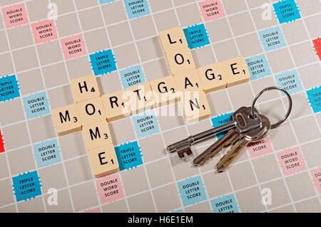 Mortgage concept England UK United Kingdom GB Great Britain - Stock Photo