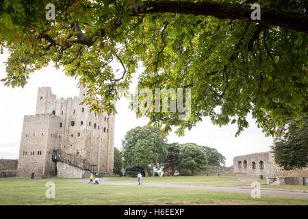 Rochester castle kent england uk - Stock Photo