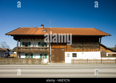 typical bavarian house in south germany - Stock Photo