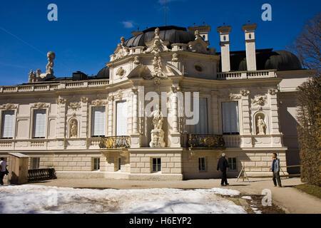 linderhof caste in bavaria germany - Stock Photo