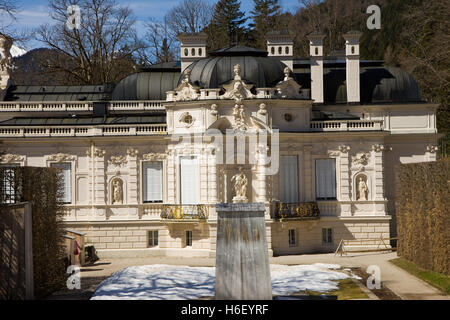 linderhof caste in bavaria germany - Stock Photo
