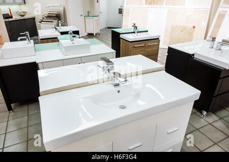 Florida Miami Home Improvement Decor Store Inside Vanities Sinks Display Sale Stock Photo