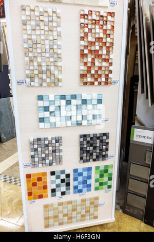Florida Miami Home Improvement Decor Store Glass Ceramic Tile Samples Stock Photo