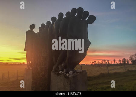 Monument, memorial death march of concentration camp prisoners of Dachau, 1945 - Stock Photo