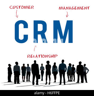 CRM Business Company Strategy Marketing Concept - Stock Photo
