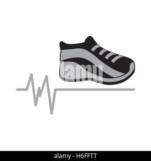 sneaker gray icon sport design graphic vector illustraion eps 10 - Stock Photo