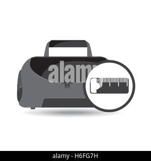 fitness sport bag icon measure tape vector illustration - Stock Photo