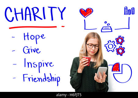 Charity Give Hope Inspiration Friendship Concept - Stock Photo