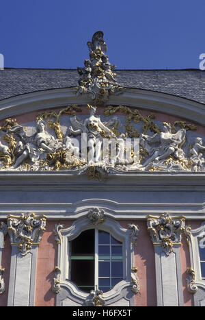Germany, Trier, gable of the Electoral Palace. - Stock Photo
