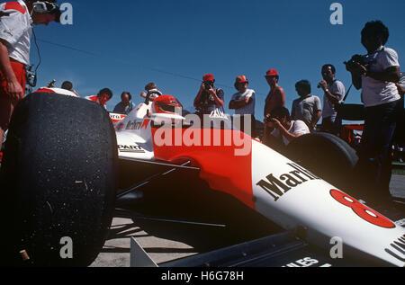 Niki Lauda in his McLaren 1980s - Stock Photo