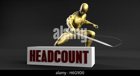Reduce Headcount and Minimize Business Concept - Stock Photo