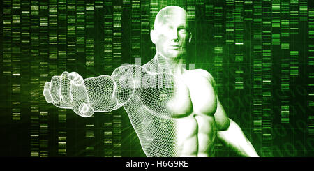 Genome Sequence and Medical Breakthrough as a Science Concept - Stock Photo