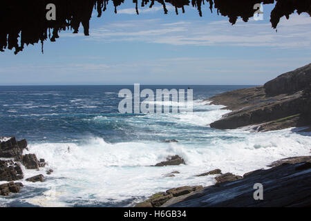 Admirals arch in Flinders chase national park on the south coast of Kangaroo Island in South Australia - Stock Photo