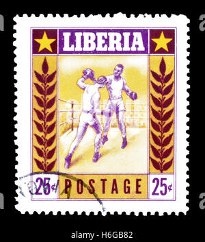 Liberia stamp 1955 - Stock Photo