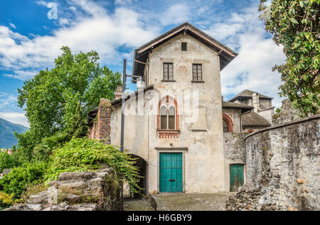 Castello Visconteo, Locarno, Ticino, Switzerland | Castello Visconteo, Locarno, Tessin, Schweiz - Stock Photo