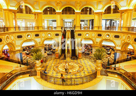 The Great Hall of the Venetian Hotel and Casino, Cotai, Macao. - Stock Photo