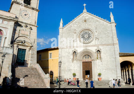 San Benedetto basilica Norcia before earthquake 2016 - Stock Photo