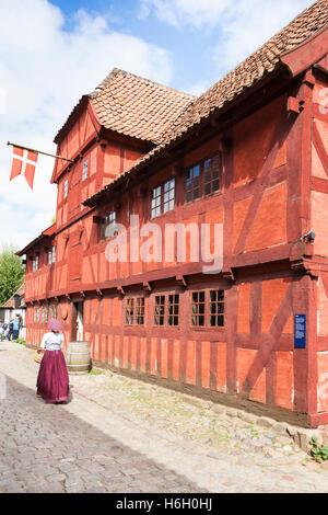 The Customs House, Den Gamle By, Aarhus, Denmark - Stock Photo