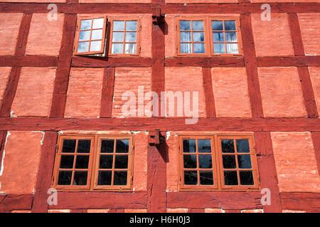 Facade of the Customs House, Den Gamle By, Aarhus, Denmark - Stock Photo