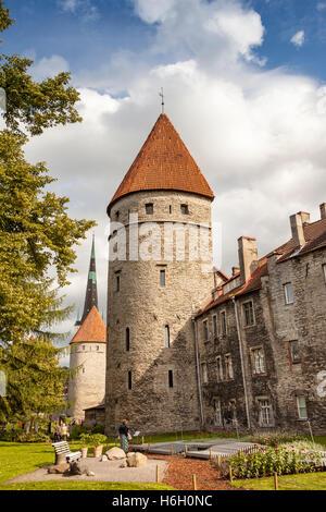 Towers in the Old Town, Tallinn, Estonia - Stock Photo