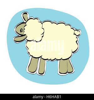 Cute Christmas or Eid al Adha sheep - Stock Photo