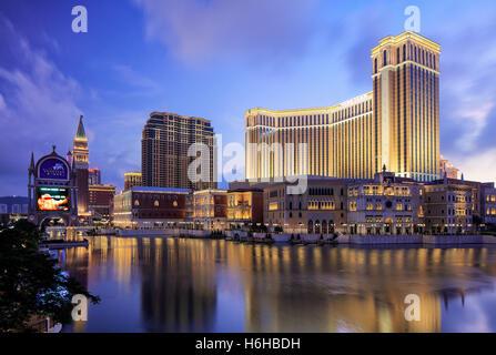 The Venetian Hotel and Casino, Cotai, Macao - Stock Photo