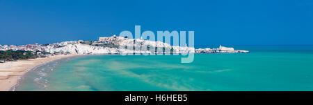 Beach of Castello and Vieste, Gargano, Foggia, Apulia, Italy - Stock Photo