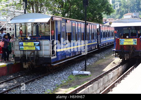 Nilgiri Mountain Railway Trains at coonoor station connecting Coonoor and Udhagamandalam Ooty Tamil Nadu India - Stock Photo