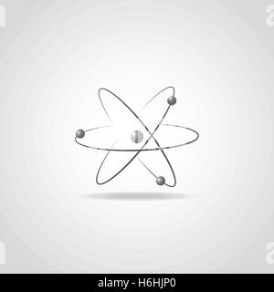 Atom Model with Protons, Electrons and Neutrons - Stock Photo