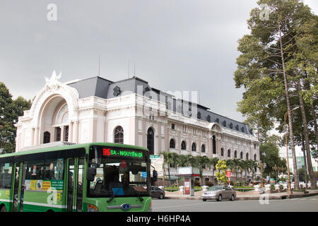 Municipal theatre Opera House in Ho Chi Minh city,Saigon city centre,Vietnam,Asia built by the french in 1897 - Stock Photo