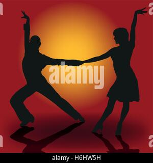 Latin Dancer Couple - Stock Photo