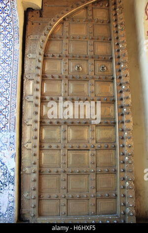 City Palace gateway, Jaipur, Rajasthan, India, Indian subcontinent, South Asia - Stock Photo