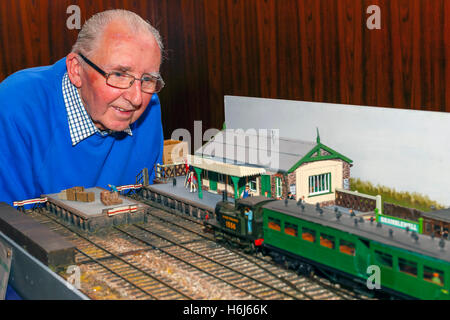 Glasgow, Scotland, UK. 29th October, 2016. On the opening day, of the two day annual Cathcart Model Railway more - Stock Photo