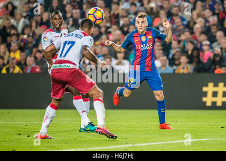 Barcelona, Catalonia, Spain. 29th Oct, 2016. FC Barcelona defender DIGNE in action in the LaLiga match between FC - Stock Photo