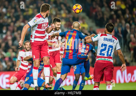 Barcelona, Catalonia, Spain. 29th Oct, 2016. FC Barcelona defender MASCHERANO in action in the LaLiga match between - Stock Photo