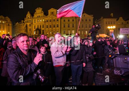 "Prague, Czech Republic. 20th Feb, 2015. October 28th - 1918 ''"" World War I: Czechoslovakia declares independence - Stock Photo"