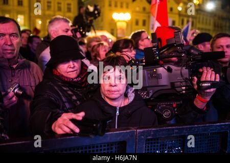 "Prague, Czech Republic. 20th Feb, 2015. October 28th - 1918 ''"" World War I: Czechoslovakia declares independence - Stock Photo"