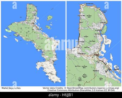 Map Of Mahe Stock Photo 225667532 Alamy