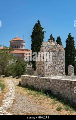 Scenic view of Lykourgos Logothetis Castle Pythagorion Samos Greece - Stock Photo