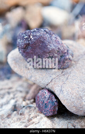 Closeup of rocks at the Burnt Mountain near Twyfelfontein Damaraland Namibia - Stock Photo