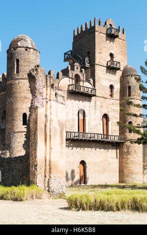 Ethiopia, Gondar, the Emperor's palace - Stock Photo
