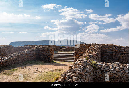 Ethiopia, Axum, the ruins of the baths of the Queen of Saba - Stock Photo