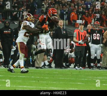 London, UK. 30th October, 2016. during the Washington Redskins vs Cincinnati Bengals International Series game at - Stock Photo