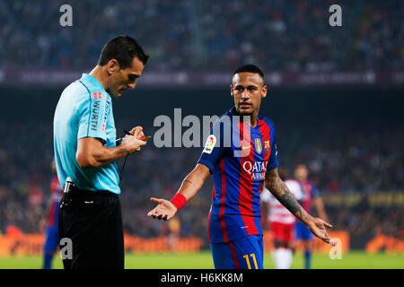 Barcelona, Spain. © D. 29th Oct, 2016. Neymar (Barcelona) Football/Soccer : Spanish Primera Division 'Liga Santander' - Stock Photo