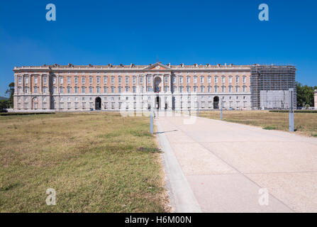 Facade of the Royal Palace of Caserta, Italy - Stock Photo