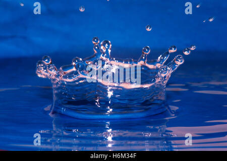 blue macro close-up macro admission close up view wet tap water pipes bathing resort spa mineral spring water drop - Stock Photo