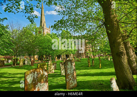 Holy Trinity church Stratford upon Avon - burial place for William Shakespeare, world famous playwright - Stock Photo